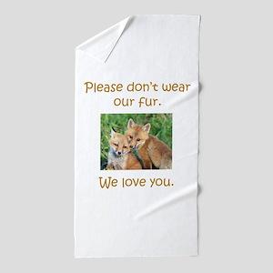 Fox No Fur Beach Towel