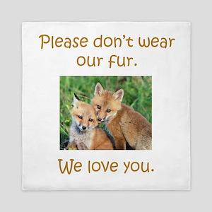 Fox No Fur Queen Duvet