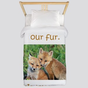 Fox No Fur Twin Duvet