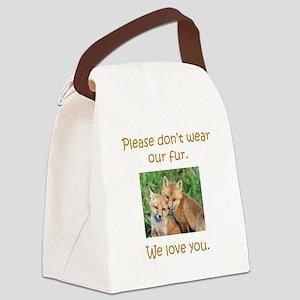 Fox No Fur Canvas Lunch Bag