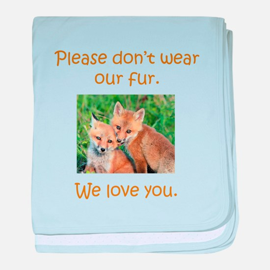 Fox No Fur baby blanket