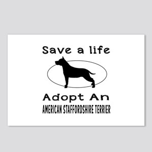 Adopt An American Staffordshire Terrier Dog Postca