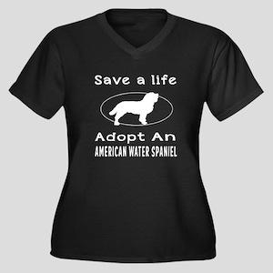 Adopt An American Water Spaniel Dog Women's Plus S