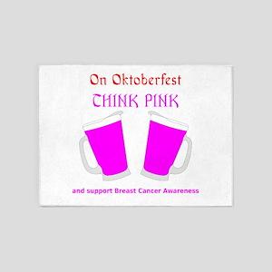 think pink on oktoberfest 5'x7'Area Rug