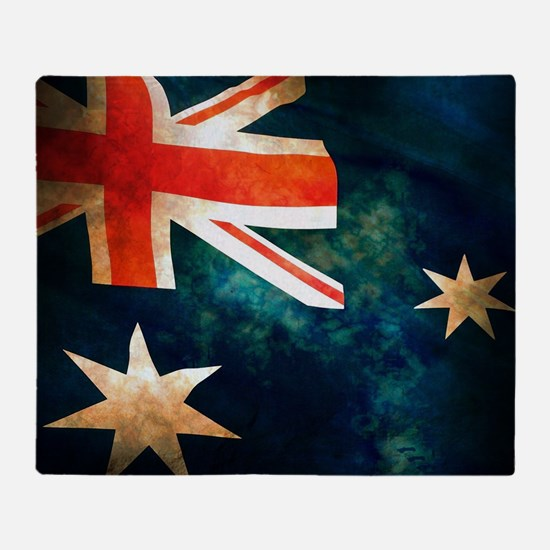 Australian Aussie Flag Throw Blanket
