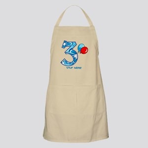 3rd Birthday Balloons Personalized Apron
