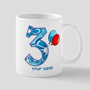 3rd Birthday Balloons Personalized Mug