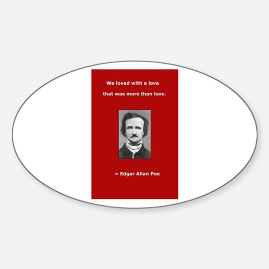 Unique Edgar allen poe Sticker (Oval)