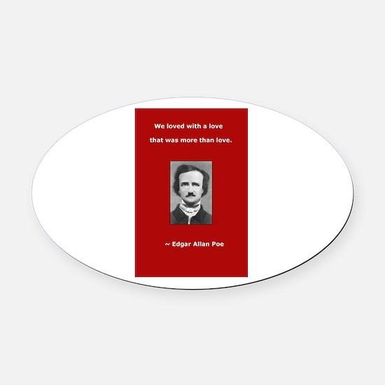 Unique Allen quote Oval Car Magnet