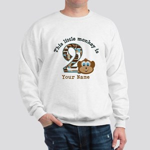 2nd Birthday Monkey Personalized Sweatshirt
