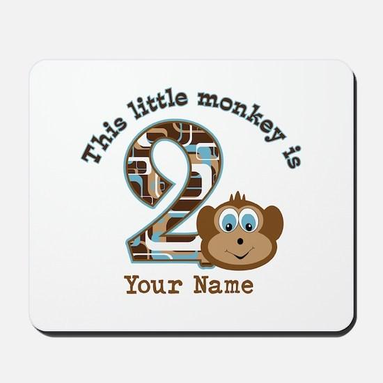 2nd Birthday Monkey Personalized Mousepad