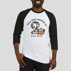 2nd Birthday Monkey Personalized Baseball Jersey