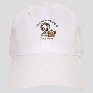 Hats 2nd Birthday Monkey Personalized Cap