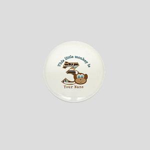 3rd Monkey Birthday Personalized Mini Button