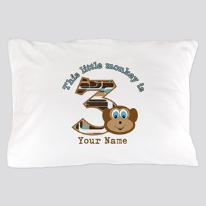 3rd Monkey Birthday Personalized Pillow Case