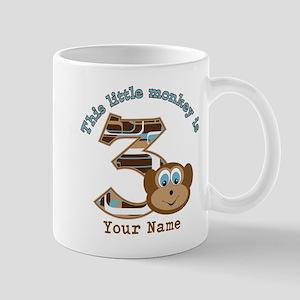 3rd Monkey Birthday Personalized Mug