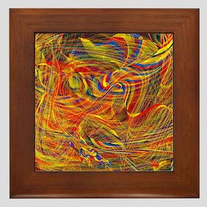 violent emotions Framed Tile