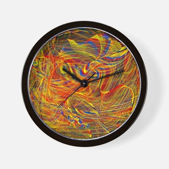 violent emotions Wall Clock