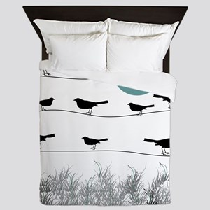 Birds On A Wire 3 Queen Duvet