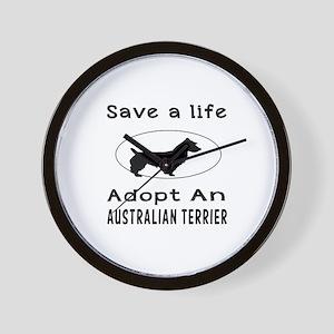 Adopt An Australian Terrier Dog Wall Clock