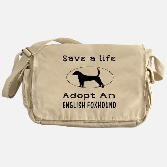 Adopt An English Foxhound Dog Messenger Bag