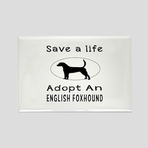 Adopt An English Foxhound Dog Rectangle Magnet