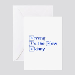 strong-is-the-new-break-blue Greeting Cards