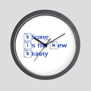 strong-is-the-new-break-blue Wall Clock