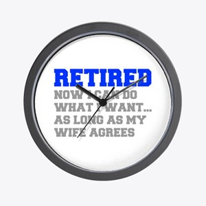 retired-now-I-can-do-FRESH-BLUE-GRAY Wall Clock