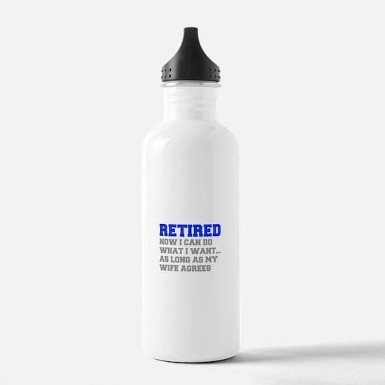 retired-now-I-can-do-FRESH-BLUE-GRAY Water Bottle