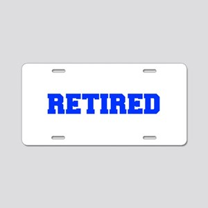 RETIRED-FRESH-BLUE Aluminum License Plate