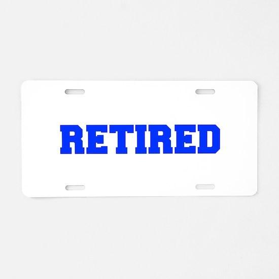 RETIRED-FRESH-BLUE Aluminum License Plate