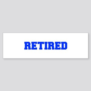 RETIRED-FRESH-BLUE Bumper Sticker