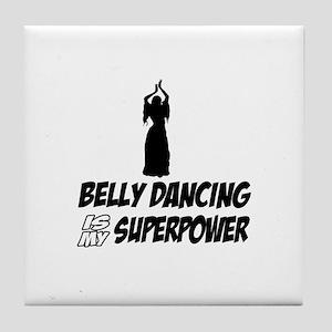 Super power Running designs Tile Coaster