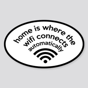 The Wifi Connects Automatically At Home Sticker (O