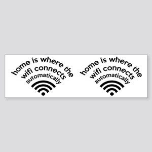 The Wifi Connects Automatically At Home Sticker (B