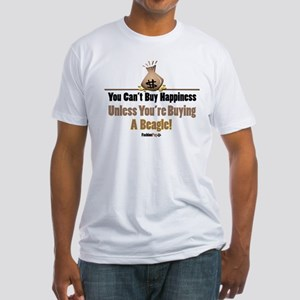 Happy Beagle Fitted T-Shirt