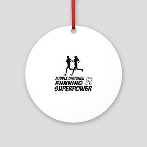 Super power Running designs Ornament (Round)