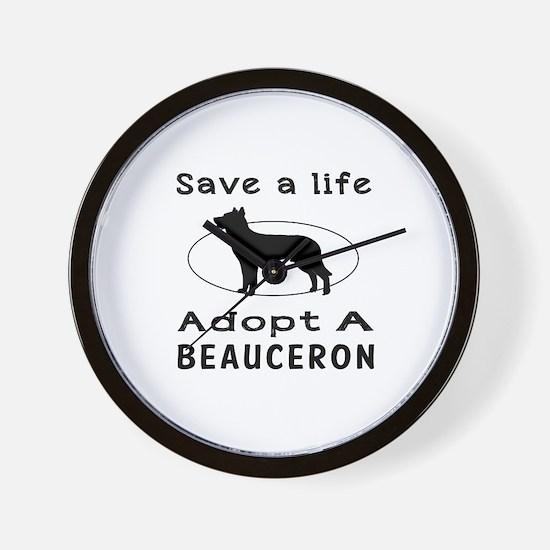 Adopt A Beauceron Dog Wall Clock