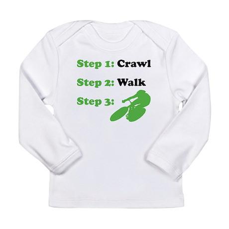 Crawl Walk Cycling Long Sleeve T-Shirt