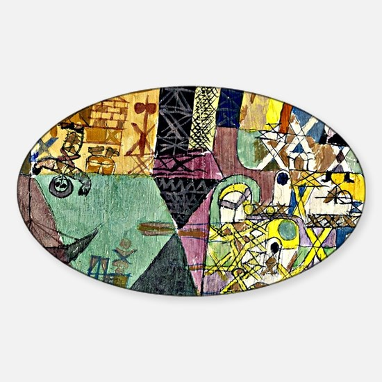 Paul Klee - Asian Entertainers Sticker (Oval)