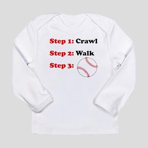 Crawl Walk Baseball Long Sleeve T-Shirt