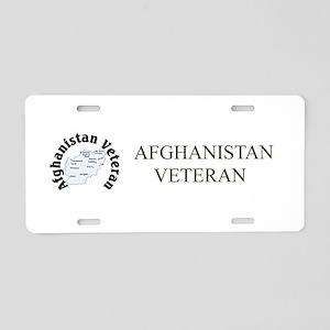 Afghanistan Veteran Aluminum License Plate