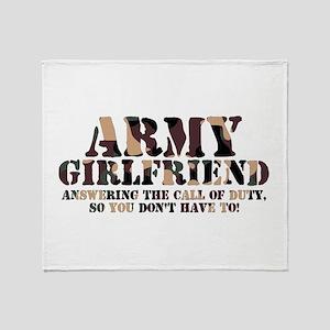 Army Girlfriend Call of Duty Throw Blanket