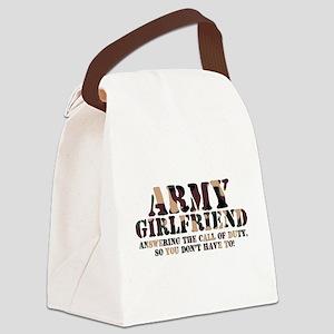 Army Girlfriend Call of Duty Canvas Lunch Bag