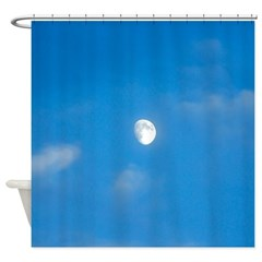 Waxing Daytime Moon Shower Curtain