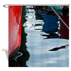 Harbor Abstract Shower Curtain