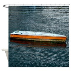 Lonely Skiff Shower Curtain