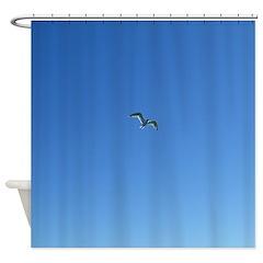 Coasting Seagull Shower Curtain