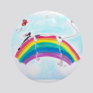 Sighthound over a Rainbow Ornament (Round)